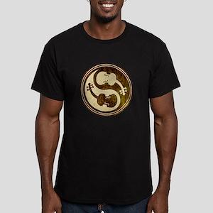 Violin-Yang Men's Fitted T-Shirt (dark)