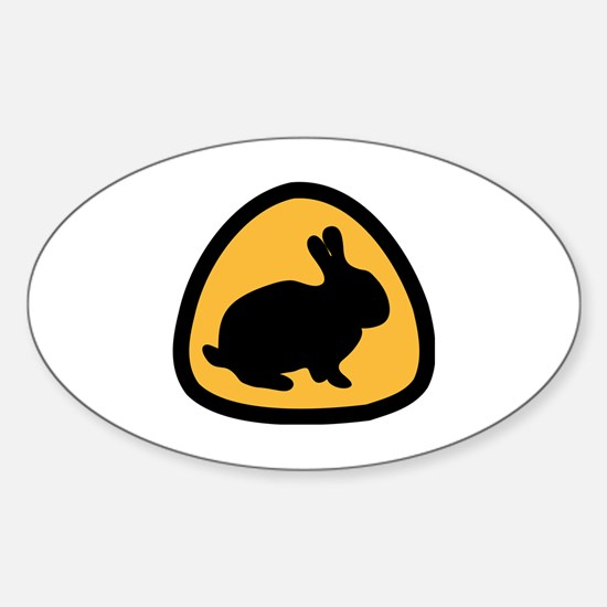 Funny Wild rabbit Sticker (Oval)