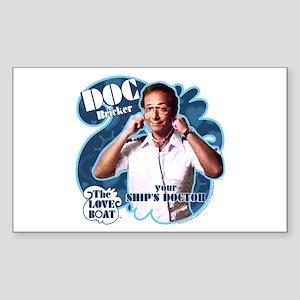 The Love Boat: Doc Bricker Sticker (Rectangle)