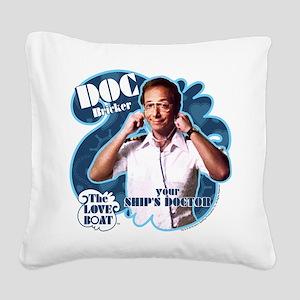 The Love Boat: Doc Bricker Square Canvas Pillow