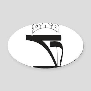 G Oval Car Magnet