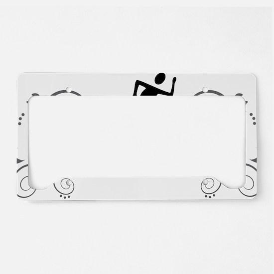 Cute Orienteering License Plate Holder