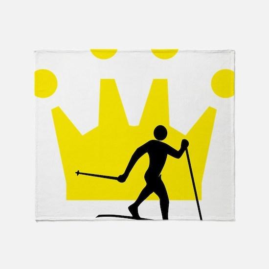 Cute Biathlon Throw Blanket
