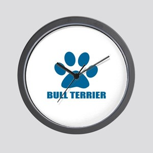 Bull Terrier Dog Designs Wall Clock