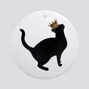 Cat Crown Round Ornament
