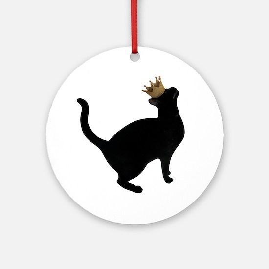 Cat Crown Round Ornament