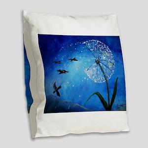 Wishing Burlap Throw Pillow