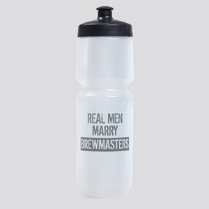 Real Men Marry Brewmasters Sports Bottle