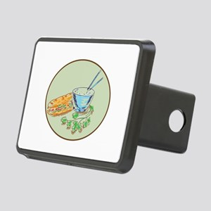Bánh Mì Sandwich and Rice Bowl Drawing Hitch Cover