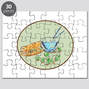 Bánh Mì Sandwich and Rice Bowl Drawing Puzzle