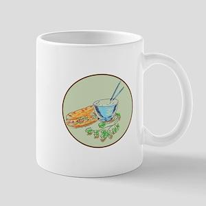 Bánh Mì Sandwich and Rice Bowl Drawing Mugs