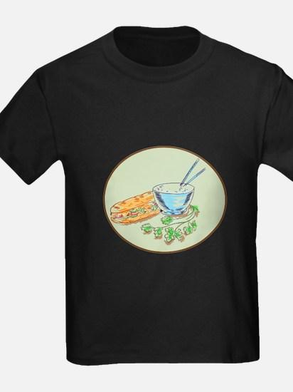 Bánh Mì Sandwich and Rice Bowl Drawing T-Shirt