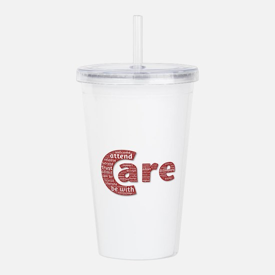 Words of Care Acrylic Double-wall Tumbler
