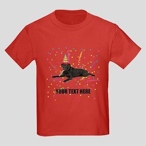 Custom Chocolate Lab Kids Dark T-Shirt
