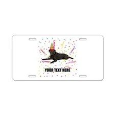 Custom Chocolate Lab Aluminum License Plate