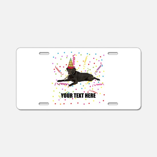 Custom Chocolate Lab Aluminum License Plate