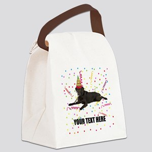 Custom Chocolate Lab Canvas Lunch Bag