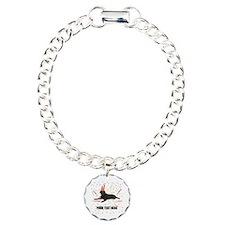 Custom Chocolate Lab Charm Bracelet, One Charm
