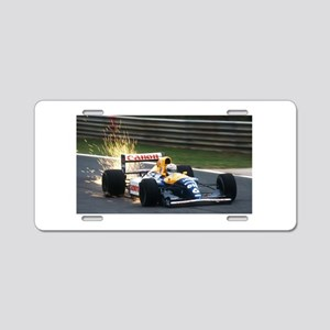 F1 Sparks Aluminum License Plate