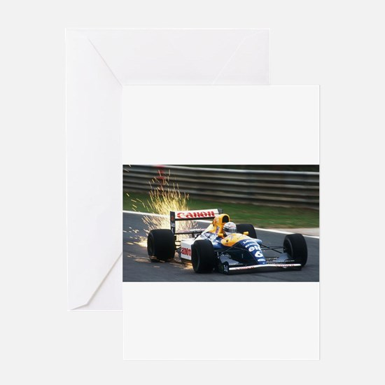 F1 Sparks Greeting Cards