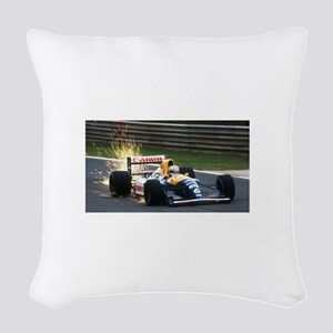 F1 Sparks Woven Throw Pillow