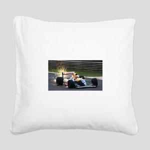 F1 Sparks Square Canvas Pillow