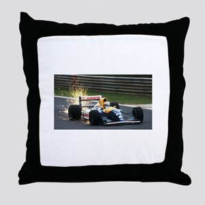 F1 Sparks Throw Pillow