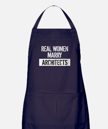 Real Women Marry Architects Apron (dark)