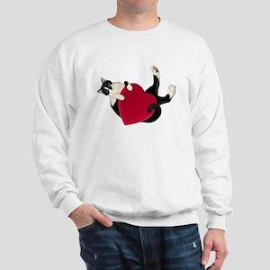 Black White Cat Heart Sweatshirt