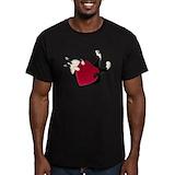 Valentines day Fitted Dark T-Shirts