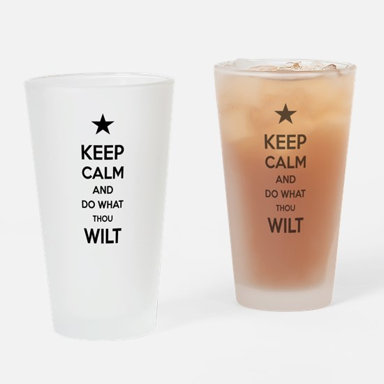Keep Calm and Do What Thou Wilt Drinking Glass