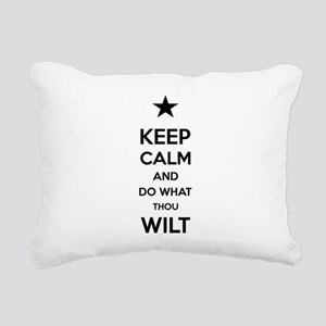 Keep Calm and Do What Th Rectangular Canvas Pillow