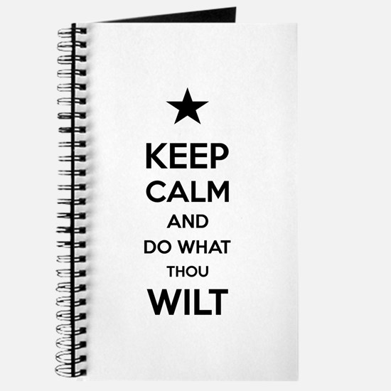 Keep Calm and Do What Thou Wilt Journal