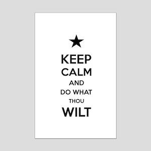 Keep Calm and Do What Thou Wilt Mini Poster Print