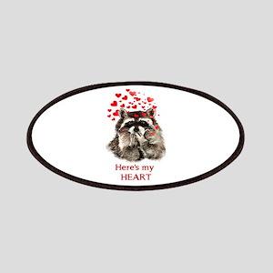 Here's My Heart Cute Raccoon Blowing Kisses Pa