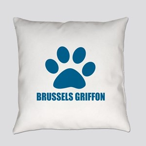 Brussels Griffon Dog Designs Everyday Pillow