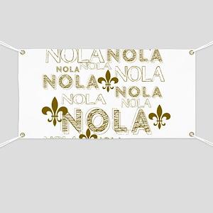 NOLA NOLA NOLA Gold Fleur de Lis Banner
