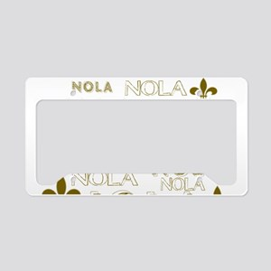 NOLA NOLA NOLA Gold Fleur de License Plate Holder