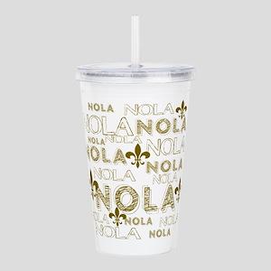 NOLA NOLA NOLA Gold Fl Acrylic Double-wall Tumbler