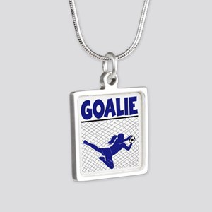 GOALIE Silver Square Necklace