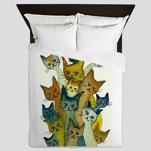 Kalamazoo Stray Cats Queen Duvet
