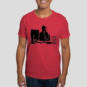 Secretary office woman Dark T-Shirt