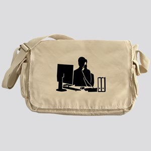 Secretary office woman Messenger Bag