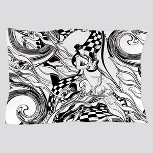 Coloring Poster Guitar Player by Julee Pillow Case