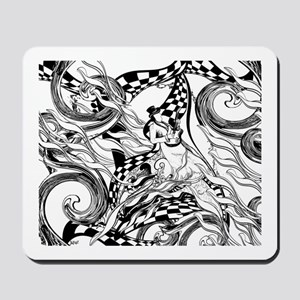 Coloring Poster Guitar Player by Juleez Mousepad