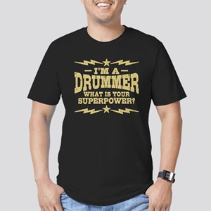 Funny Drummer Men's Fitted T-Shirt (dark)