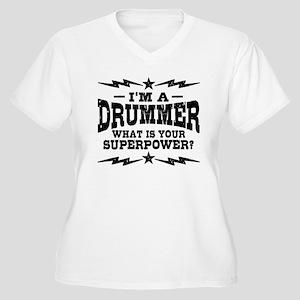 Funny Drummer Women's Plus Size V-Neck T-Shirt