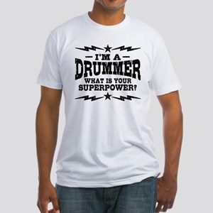 Funny Drummer Fitted T-Shirt
