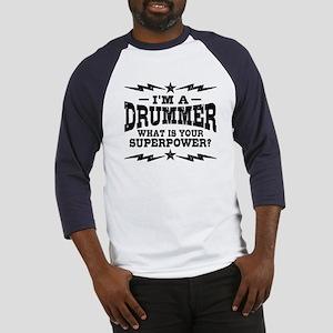 Funny Drummer Baseball Jersey