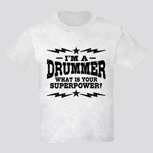 Funny Drummer Kids Light T-Shirt